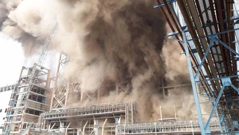 Grinity-Fire at NTPC BOILER accident